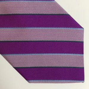 Brooks Brothers Purple Silk Striped Tie